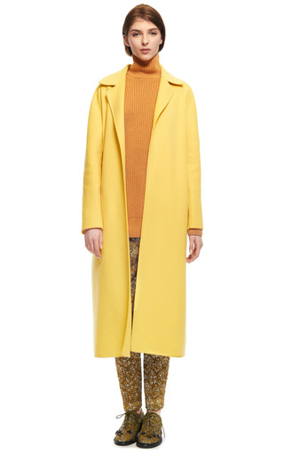 Doubleface Wool Angora Wrap Coat by ROCHAS Now Available on Moda Operandi