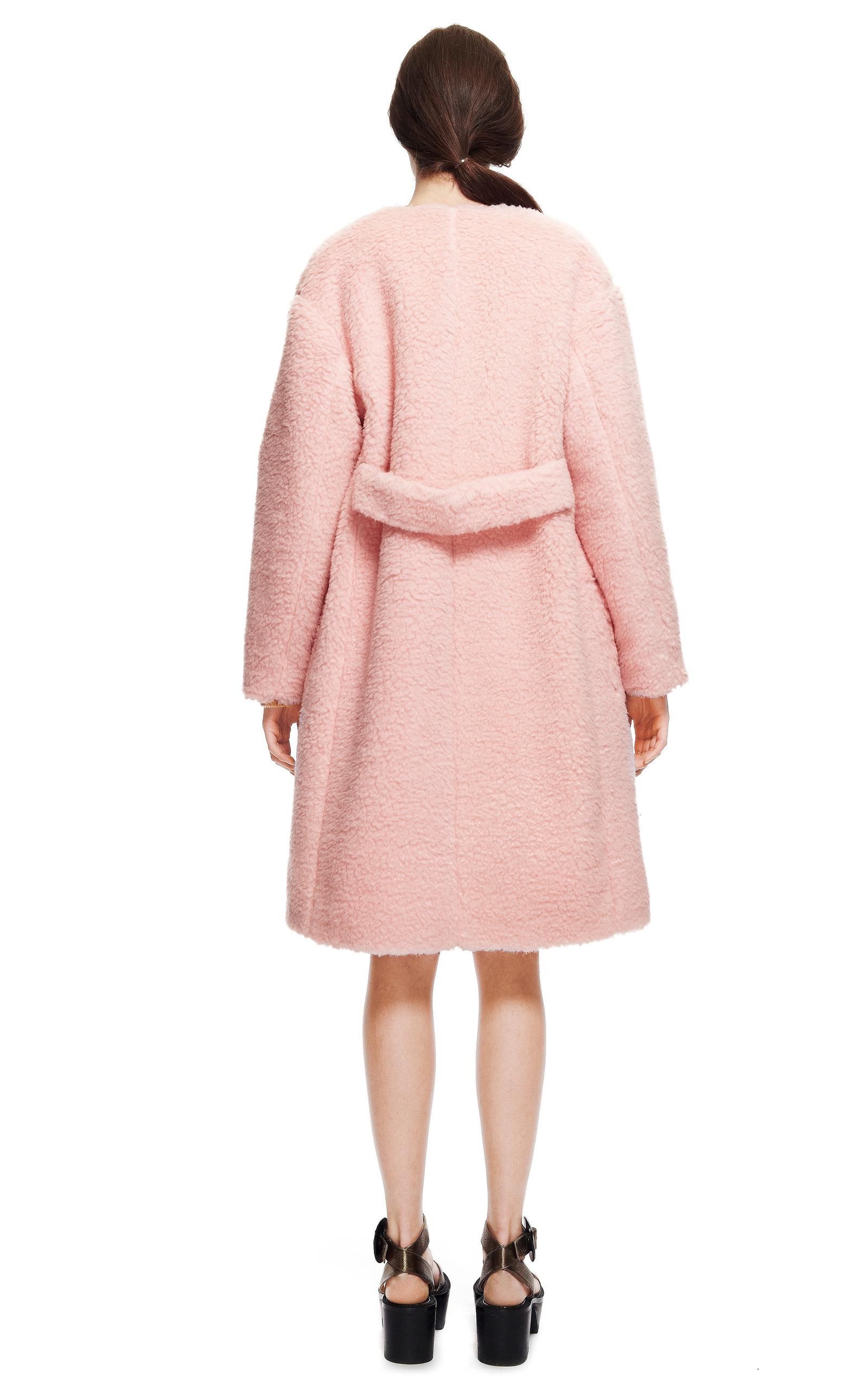 Peluche Powder Pink Coat by Rochas   Moda Operandi