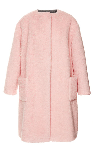 Medium rochas pink peluche powder pink coat
