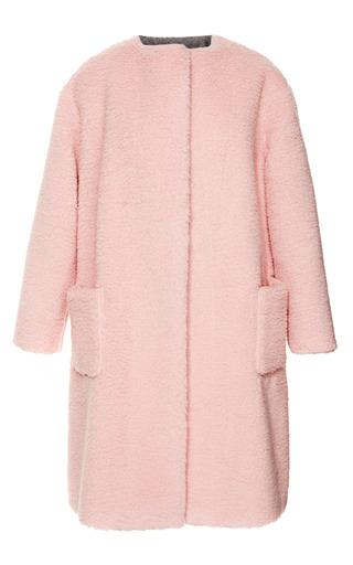 Medium rochas pink peluche powder pink coat