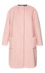 Peluche Powder Pink Coat by ROCHAS Now Available on Moda Operandi