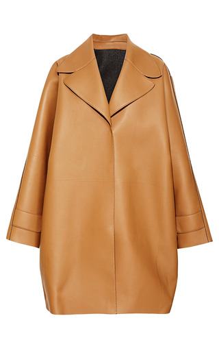 Medium rochas brown camel oversize calf coat