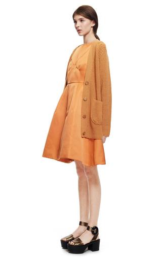 Camel Cashmere Boyfriend Cardigan by ROCHAS for Preorder on Moda Operandi