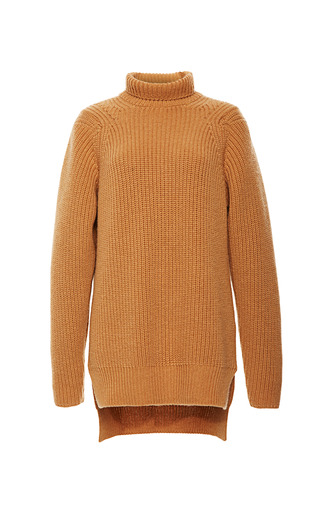 Camel Cashmere Turtleneck by ROCHAS for Preorder on Moda Operandi