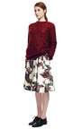 Blood Red Bee Embroidered Mohair Sweater by ROCHAS for Preorder on Moda Operandi
