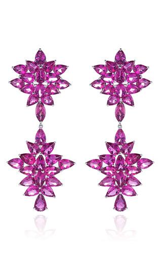 Medium dana rebecca pink one of a kind rubellite earrings in white gold