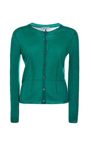 Medium nina ricci green merinos cardigan