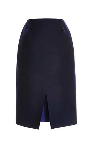 Medium nina ricci navy bonded wool skirt 5