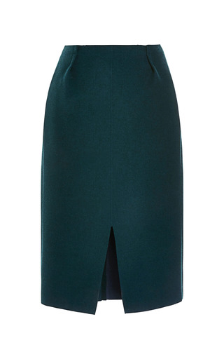 Medium nina ricci green bonded wool skirt 4