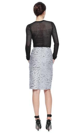 Crocodile Jacquard Skirt by NINA RICCI for Preorder on Moda Operandi