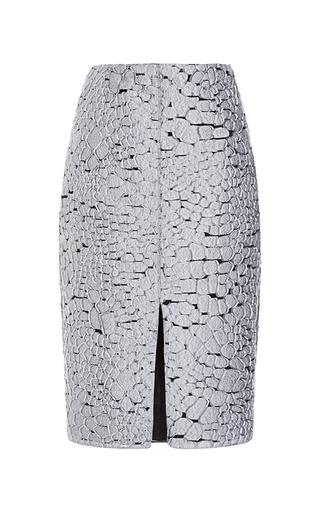 Medium nina ricci metallic crocodile jacquard skirt