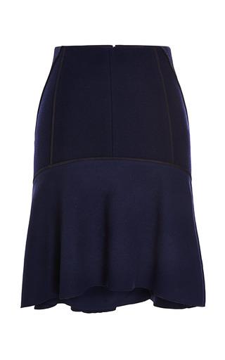 Medium nina ricci navy bonded wool skirt