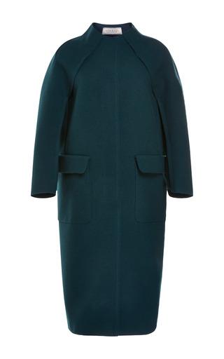 Medium nina ricci green bonded wool coat 2
