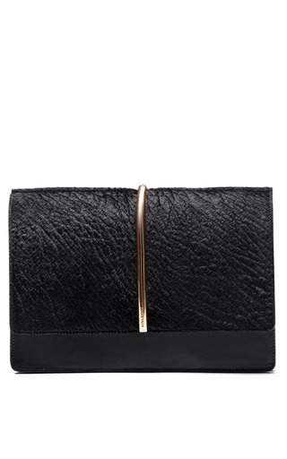 Medium nina ricci black haircalf arc medium bag