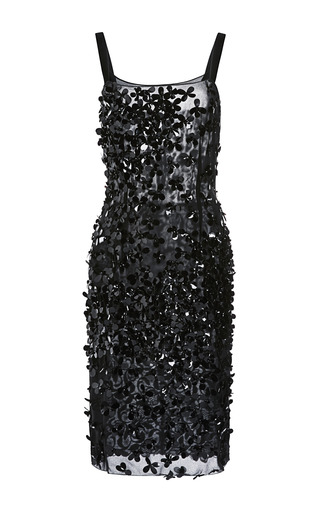 Medium nina ricci black sequined dress