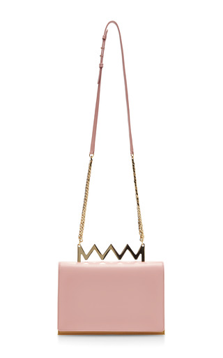 Medium sara battaglia pink sylvia leather shoulder bag