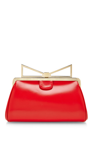 Medium sara battaglia red lady me leather clutch