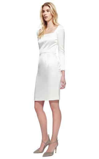 Tailor Bow Evening Sheath Dress by KATIE ERMILIO for Preorder on Moda Operandi
