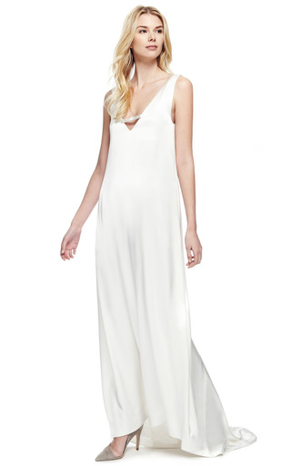 Tailor Bow Slip Gown by KATIE ERMILIO for Preorder on Moda Operandi