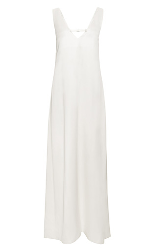 Medium katie ermilio white tailor bow slip gown