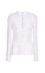 Silk Georgette With Pearls Blouse by CUSHNIE ET OCHS Now Available on Moda Operandi
