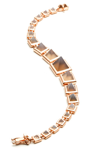 Graduated Gemstone Pyramid Bracelet by EDDIE BORGO for Preorder on Moda Operandi
