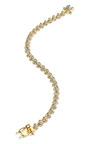 Pave Mini Cone Bracelet by EDDIE BORGO for Preorder on Moda Operandi