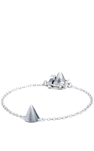 Medium eddie borgo silver single cone bracelet