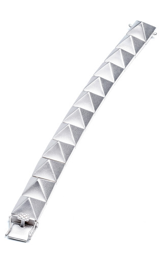 Medium eddie borgo silver large pyramid bracelet