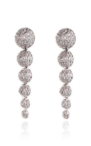 Medium eddie borgo silver graduated pave cone drop earring