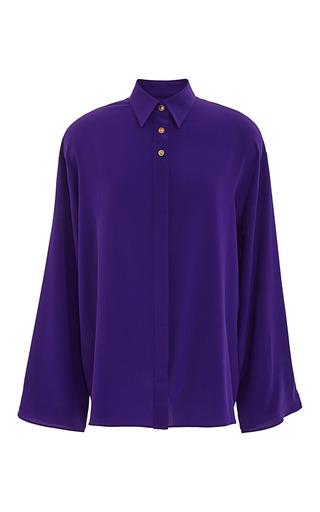 Medium fausto puglisi purple bright purple silk blouse