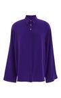 Bright Purple Silk Blouse by FAUSTO PUGLISI for Preorder on Moda Operandi