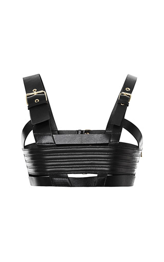 Buckle Front Harness Bra Top by FAUSTO PUGLISI for Preorder on Moda Operandi