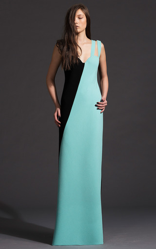 Asymmetric Wool Crepe Gown by FAUSTO PUGLISI for Preorder on Moda Operandi