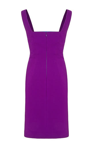 Color Blocked Cady Sheath Dress by FAUSTO PUGLISI for Preorder on Moda Operandi