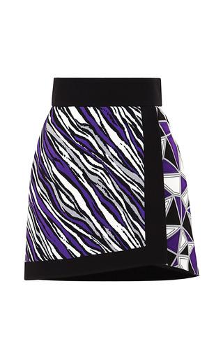 Medium fausto puglisi white zebra stripe cady wrap skirt