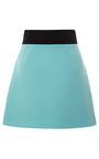 Color Blocked Wool Crepe Mini Skirt by FAUSTO PUGLISI for Preorder on Moda Operandi