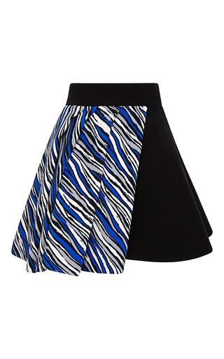 Medium fausto puglisi multi zebra stripes combo cady skirt