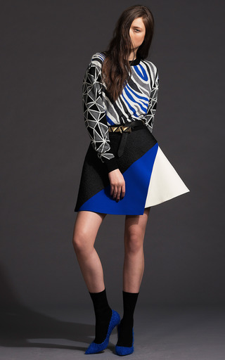 Embossed Three Layer Skirt by FAUSTO PUGLISI for Preorder on Moda Operandi