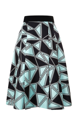 Medium fausto puglisi multi geometric silk twill nana skirt