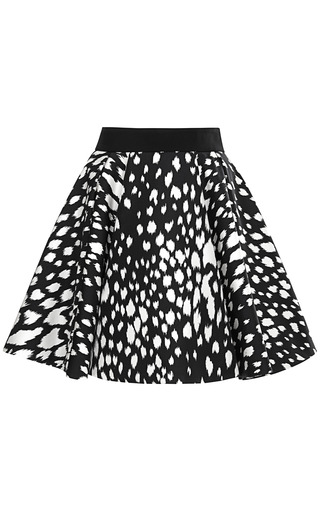 Medium fausto puglisi print abstract animal print circle skirt