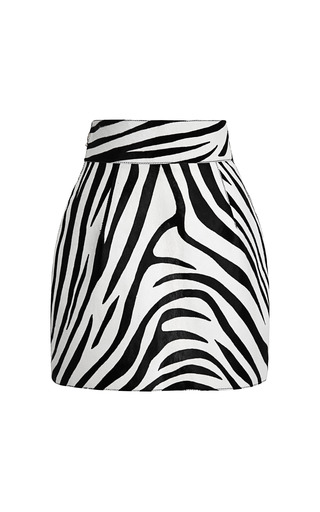 Medium fausto puglisi print zebra stripe haircalf mini skirt