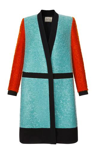 Medium fausto puglisi multi color blocked boucle coat