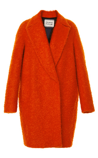 Medium fausto puglisi red tomato red boucle coat