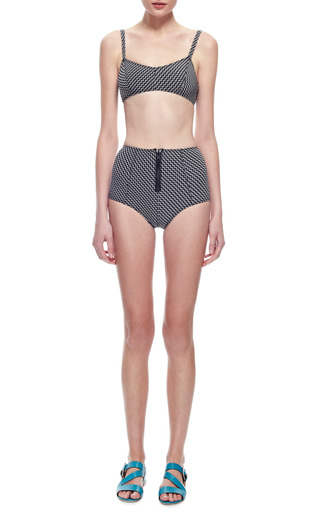 Genevieve Zigzag Printed Bikini by LISA MARIE FERNANDEZ Now Available on Moda Operandi