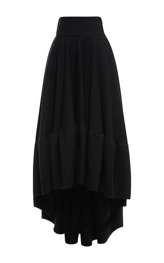 Medium antonio berardi black ruffled high low evening skirt