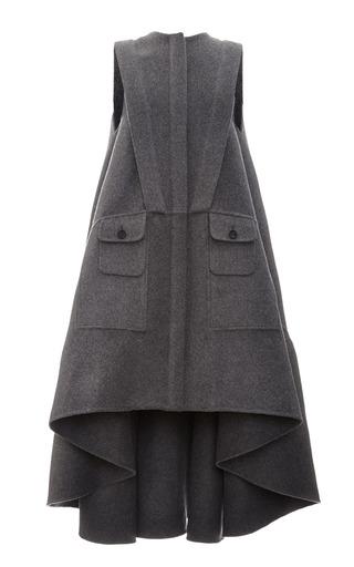 Medium antonio berardi dark grey sleeveless virgin wool coat