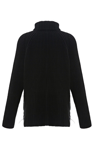 Feather Embellished Knit Turtleneck by ANTONIO BERARDI for Preorder on Moda Operandi
