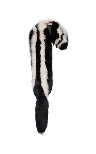 Medium marni black volpe artic fox fur stole 2