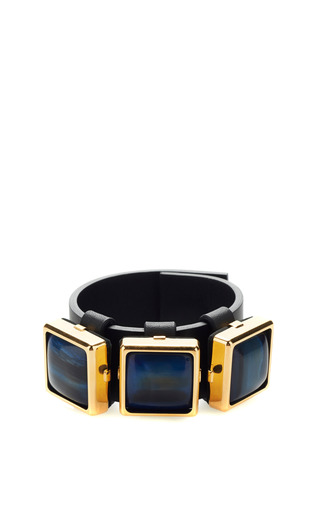 Medium marni green corno horn bracelet